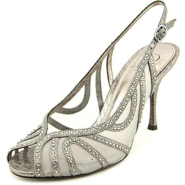 Adrianna Papell Fiji Women Open-Toe Synthetic Silver Slingback Heel