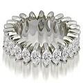5.75 cttw. 14K White Gold Marquise Diamond Eternity Ring - Thumbnail 0