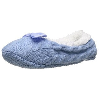 Carole Hochman Womens Cashmere Blend Cable Knit Mary Jane Slippers - 6-7 medium (b,m)