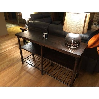 Shop Carbon Loft 54 Inch Renate Sofa Table In Coffee Brown With Rack