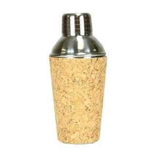 "6.5"" Fasion Avenue Cork & Stainless Steel Mini Martini Cocktail Shaker"