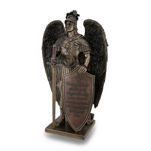 Take Up The Shield Of Faith Warrior Angel Statue Bible Verse