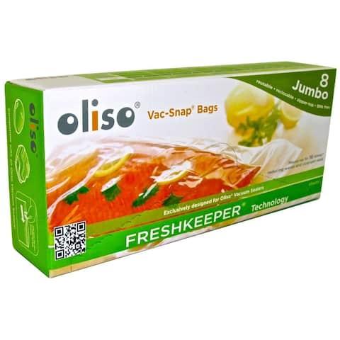 Oliso Pro 50002028 VAC-SNAP Bags, Jumbo, 2 Gallon, 8 Bags