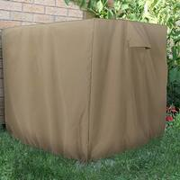 Sunnydaze Khaki Heavy-Duty Square Outdoor Air Conditioner Cover - 34 X 30-Inch