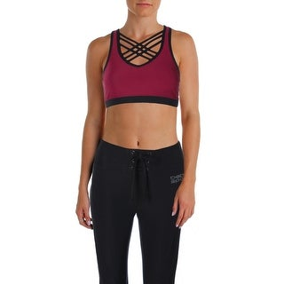 Bebe Womens Sports Bra Yoga Fitness