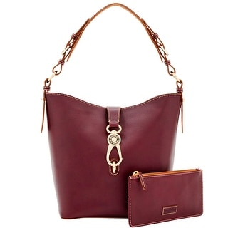 Dooney & Bourke Toscana Lily Bucket (Introduced by Dooney & Bourke at $358 in Sep 2016) - Bordeaux