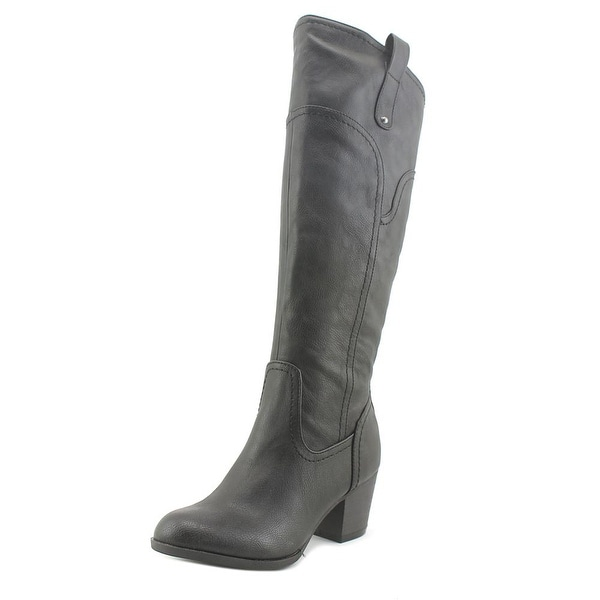 Indigo Rd. Solar Women Round Toe Synthetic Black Knee High Boot
