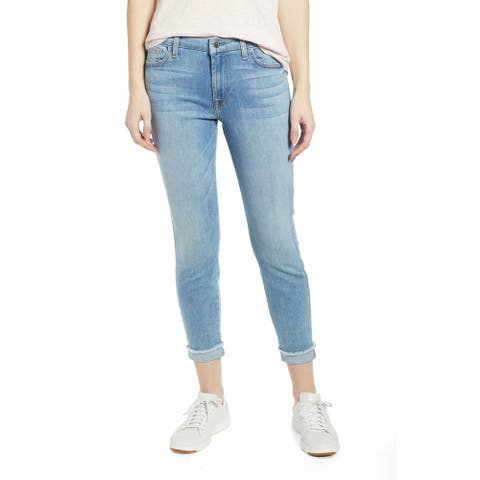 7 FOR ALL MANKIND Womens Blue Skinny Pants Size 14