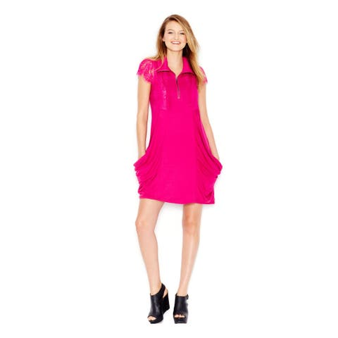 KENSIE Womens Pink Sleeveless Knee Length Shift Dress Size S