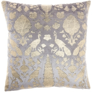 """Link to Mina Victory Sofia  Grey Throw Pillow , ( 20""""X20"""" ) Similar Items in Decorative Accessories"""