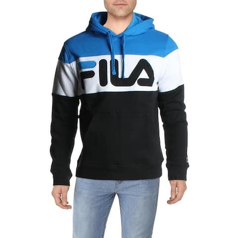 Fila Flamino Men's Fleece Lined Colorblock Logo Drawstring Lifestyle Hoodie