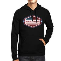 Respect The USA Unisex Black Hoodie Crewneck Pullover Fleece Gifts