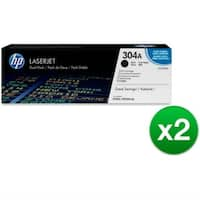 HP 304A Black Contract LaserJet Toner Dual Cartridge (CC530AD)(2-Pack)