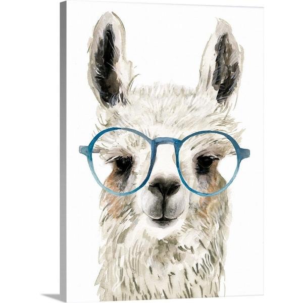 """""""Calculating Llama I"""" Canvas Wall Art. Opens flyout."""