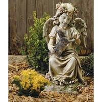 "16"" Joseph's Studio Angel with Kitten Outdoor Garden Figure Statue"