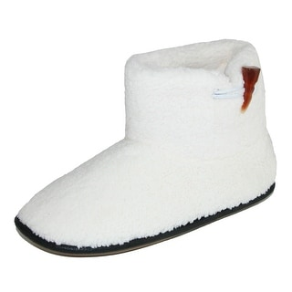 Hanes Women's Dakota Bootie Slipper with Toggle & Sherpa Fleece Lining