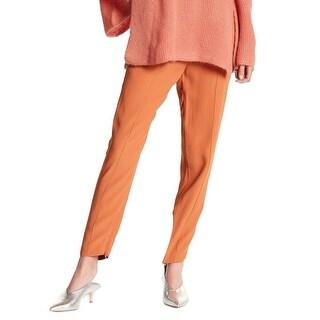 Keepsake NEW Terracotta Orange Womens XXS Translate Front-Pleat Pants