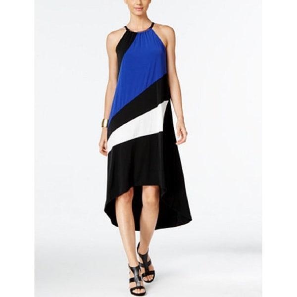 INC International Concepts Women's Color-blocked High-Low Dress (PM) - Medium