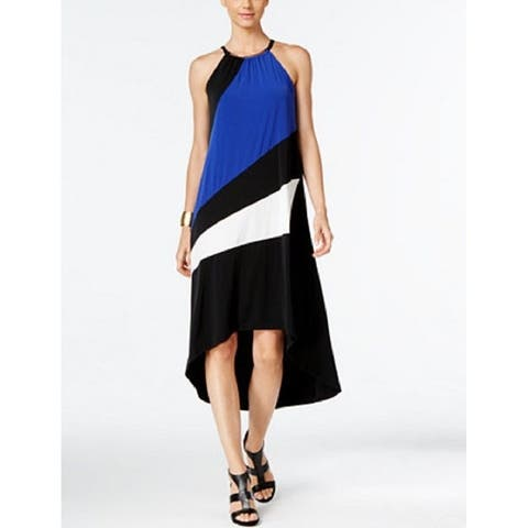 INC International Concepts Women's Color-blocked High-Low Dress (PM) - Medium