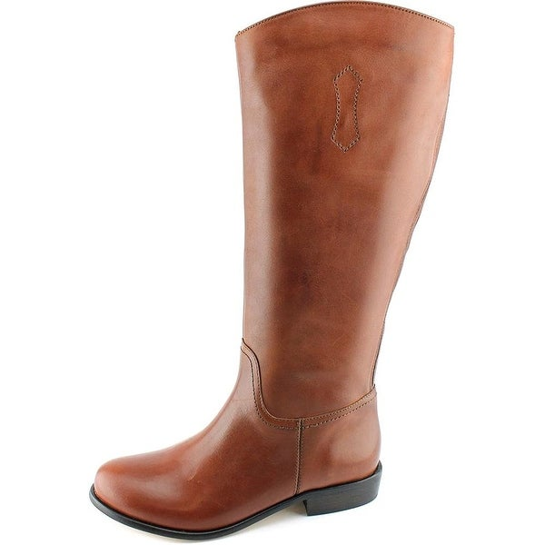 Corso Como Womens Geneva Leather Almond Toe Knee High Riding Boots