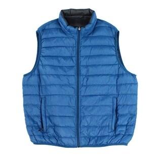 Hawke & Co Dark Teal Blue Mens Size Medium M Full-Zip Vest Jacket