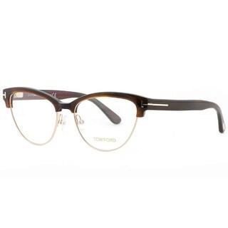 Tom Ford TF 5365 052 54mm Havana Brown/Gold Women's Cat Eye Eyeglasses - Havana Brown - 54mm-17mm-140mm