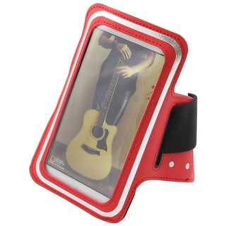 Gym Dust Dirt Proof Universal Screen Protector Armband Phone Arm Band Holder Red