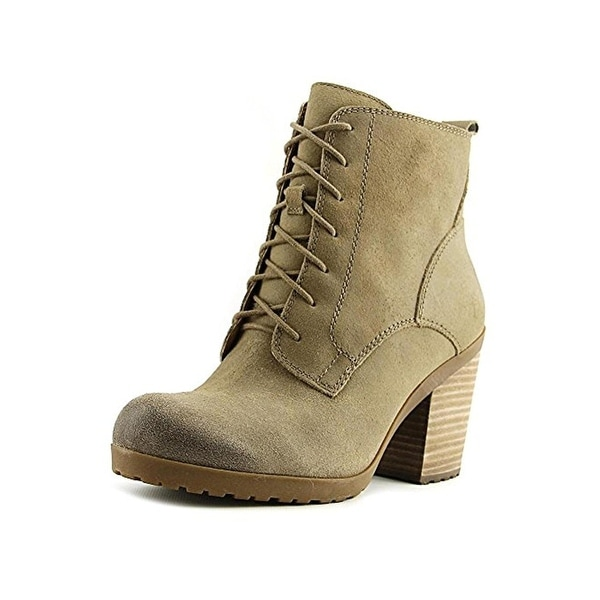 Lucky Brand Womens Orsander Booties Suede Block Heel