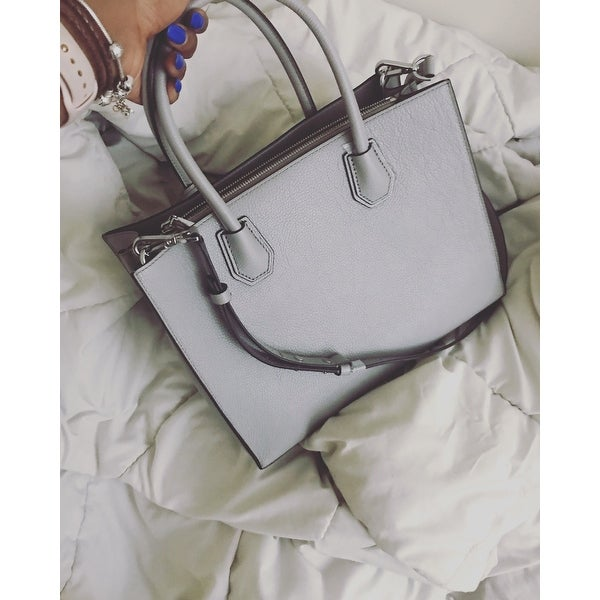 aad2e1703 Shop MICHAEL Michael Kors Mercer Lg Conv Tote pearl grey - Free Shipping  Today - Overstock - 17874989