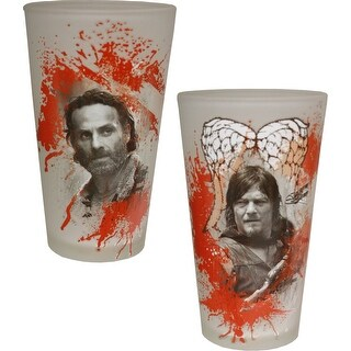 Walking Dead Bloody Pint Glass Set