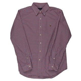 Polo Ralph Lauren Mens Oxford Checkered Casual Button-Down Shirt