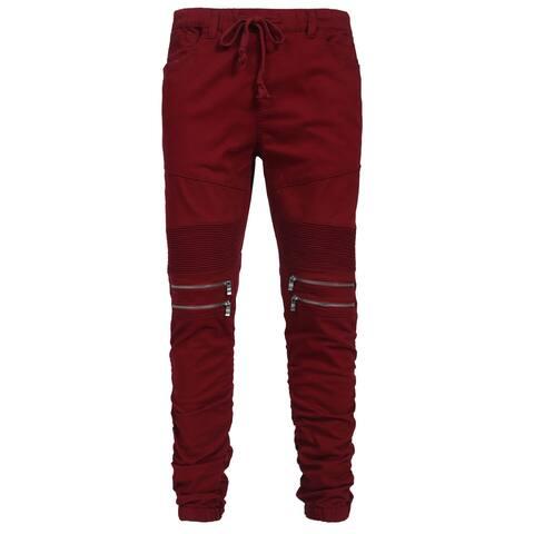 NE PEOPLE Mens Elastic Front Zipper Jogger Pants S-3XL [NEMP20]