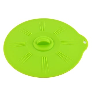 Unique Bargains Silicone Mixing Bowl Cup Pot Round Storage Lid Cover Seal  Sealing Cap Green