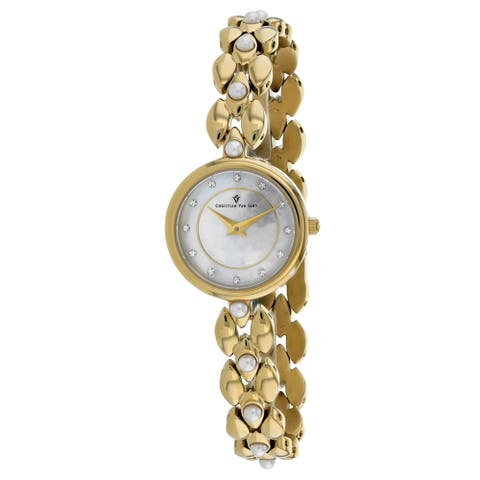 Christian Van Sant Women's Perla Mother of Pearl Dial Watch - CV0616 - One Size