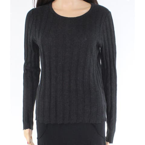 Madewell Women's Sweater Black Size Medium M Ribbed Knit Crewneck