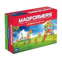 Magformers Neon Color Magnetic Construction Set 60-Piece - Multi