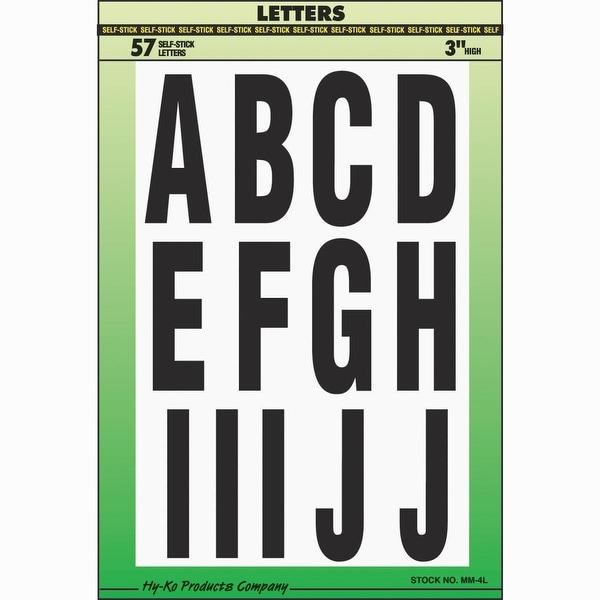 "Hy-Ko 3"" Assortment Letters"