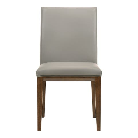 Aurelle Home Modern Leather Parson Dining Chairs (Set of 2)