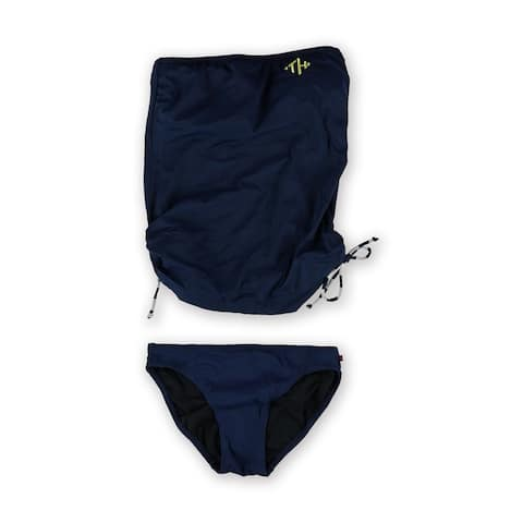 Tommy Hilfiger Womens Side Cinched Classic 2 Piece Bandeau