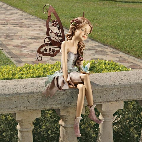 Fannie The Fairy Sitting Statue