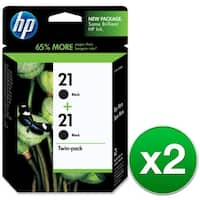 HP 21 Black 2 Original Ink Cartridges (C9508FN) (2-Pack)