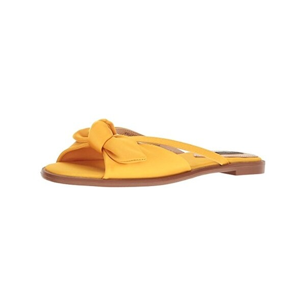 Kensie Womens Major Slide Sandals Satin Open Toe