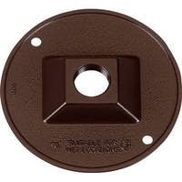 14381BR 4.25 in. Bronze Round Outlet Box Cover