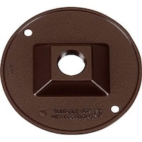 Sigma 14381BR 4.25 in. Bronze Round Outlet Box Cover