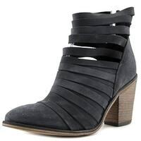 Free People Hybrid Women  Round Toe Leather Black Bootie