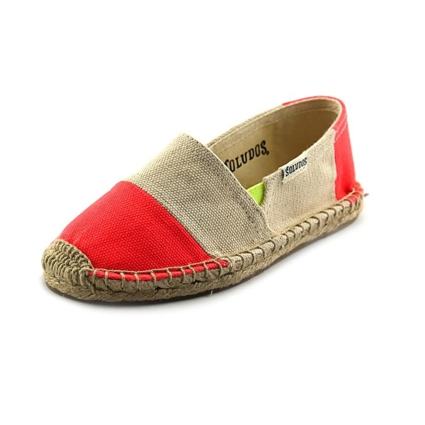 Soludos Original Espadrille Youth Round Toe Canvas Nude Loafer