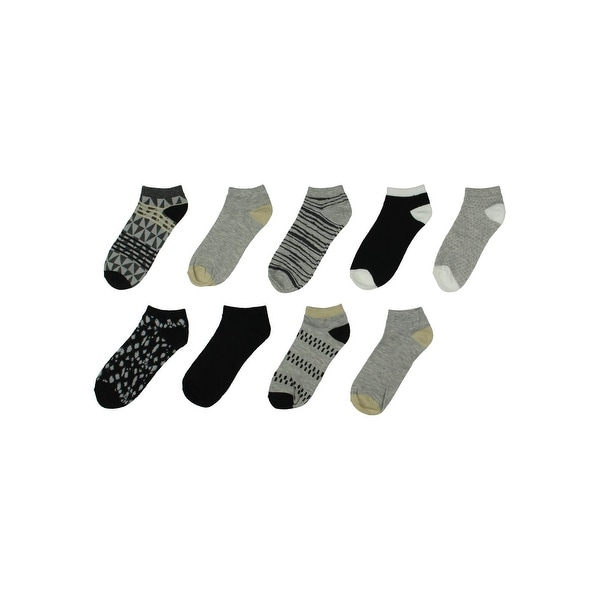 Nine West Womens Low-Cut Socks 9PK Multi Pattern - 9-11