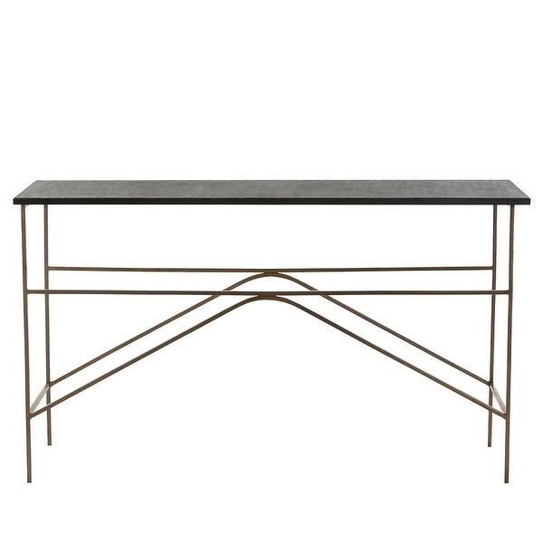 Shop Arteriors 2653 Deacan 54 Inch Long Granite Top Iron Console