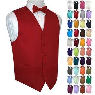 Men's Formal Tuxedo Vest and Bow-Tie Tie Set. Wedding, Prom, Cruise, Special Occasion