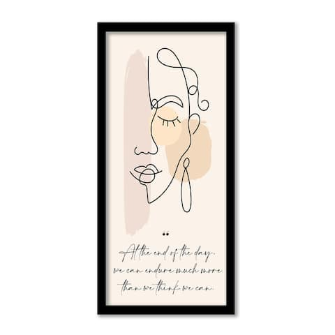 'Mur Contour IX' Framed Print Wall Art by ChiChi Décor